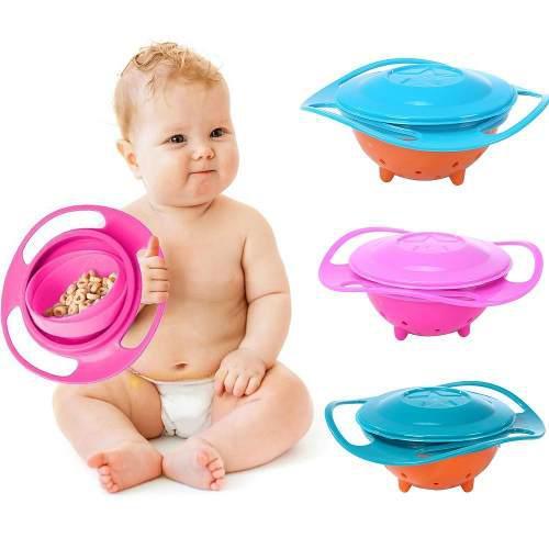 Recipiente giratorio antiderrame gyro bowl para bebé