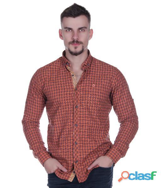 Camisa slim fit de turquia para hombres (moda europea), lima