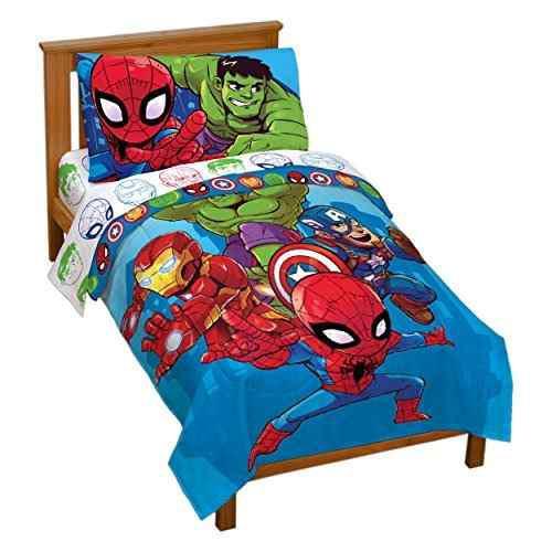 Marvel heroes amigos 4 piezas juego de cama infantil
