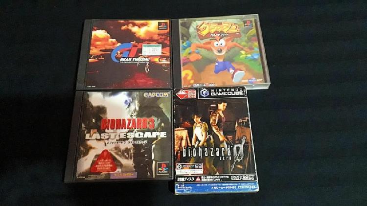 3 juegos ps1 play station japones y juego gamecube original