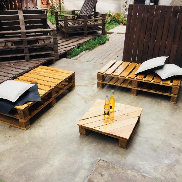 Juego De Terraza De Pallets Para Jardin En Lima Anuncios