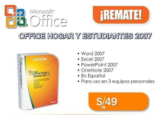 Microsoft office hogar y estudiantes 2007 original