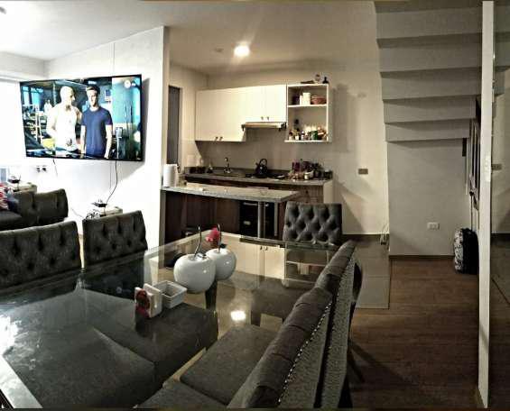 Venta de duplex 4to piso con cochera en pueblo libre frente