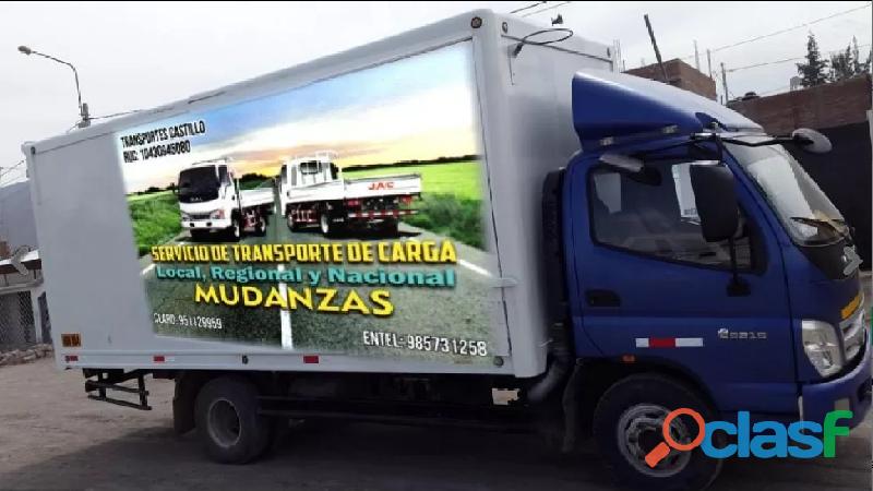 Servicio de carga, mudanzas y expresos a nivel nacional sur
