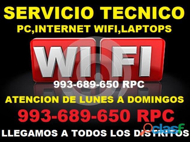 Tecnico en instalacion de repetidores wifi cableados pc laptops a domicilio