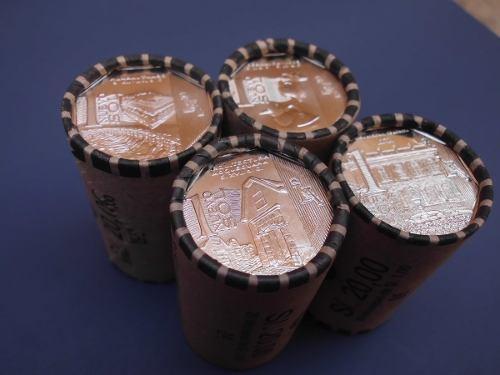 Lote 4 conos de monedas coleccion riqueza y orgullo del peru