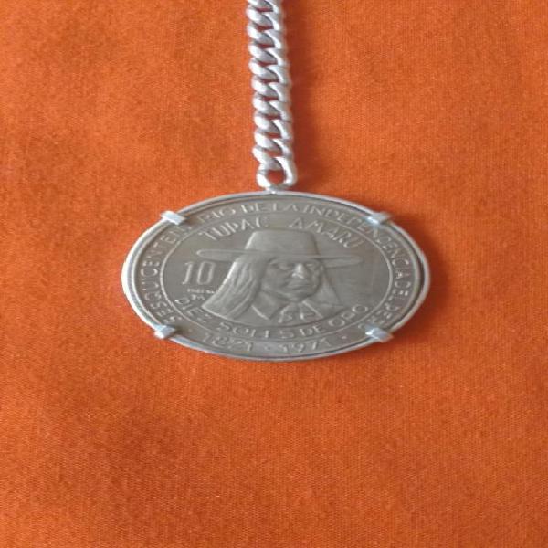 Moneda de coleccion 18211971 con llavero de plata