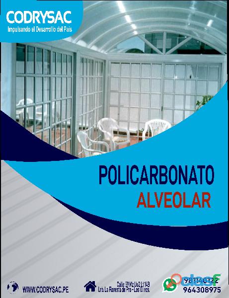 policarbonato alveolar, solidos y trapezoidales