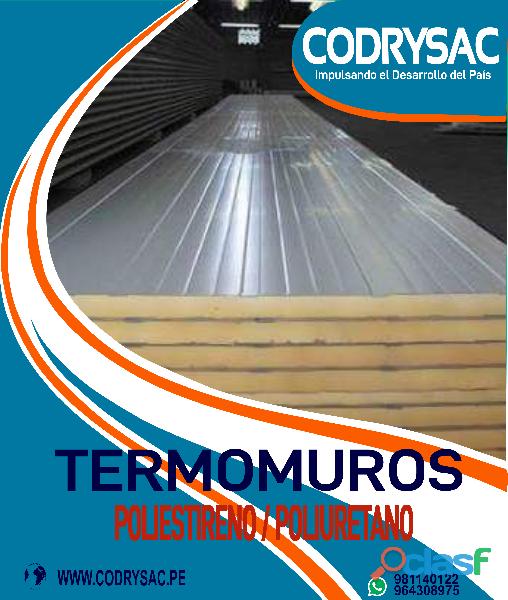 termo techos de poliuretano o poliestireno