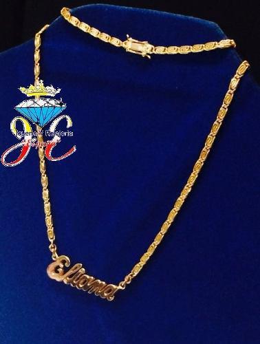 Cadena de oro ley 18k collar mujer italiano cd_01 jespaña