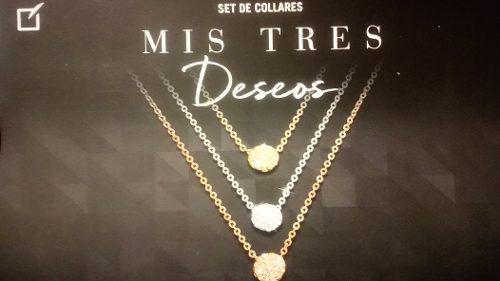 Set Collares Mis Tres Deseos