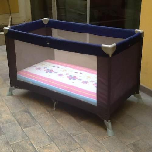 Cama cuna plegable con colchón