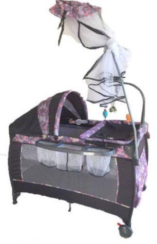Cuna corral mecedora con movil juguetes para bebe niño