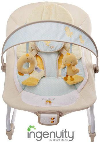 Hamaca para bebé con vibración, música y diseño de pato