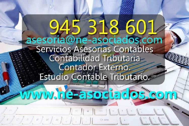 Servicios asesorias contables contabilidad tributaria.