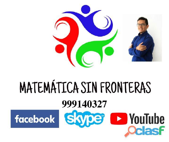 Profesor particular de matematica san borja 999140327