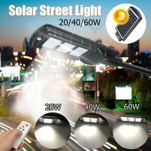 20w / 40w / 60w potencia solar luz de calle led lampara al a