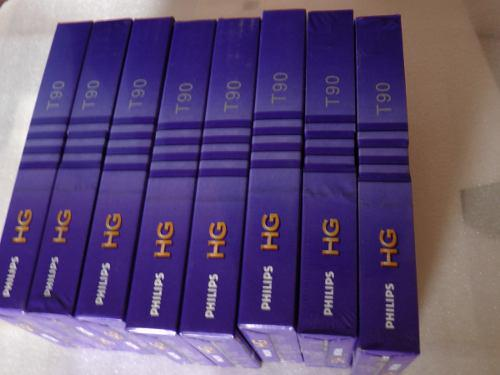 8 cintas vhs philips hg (nuevas selladas) 8 por 60 soles