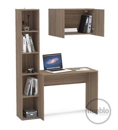 Combo escolar escritorio + dos estantes muebles de melamina