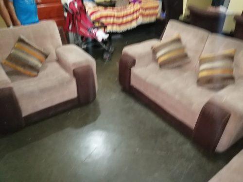 Juego de muebles de 3 piezas y juego de comedor de 6 sillas