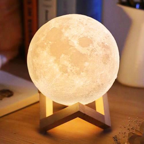 Lampara luna 3d original importada sensor touch mesa cuarto