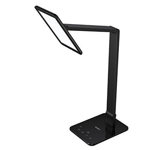 Luz de escritorio aukey, lampara de mesa giratoria con panel