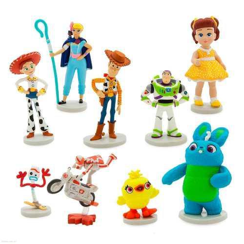 Toy story 4 set de 9 personajes marca disney