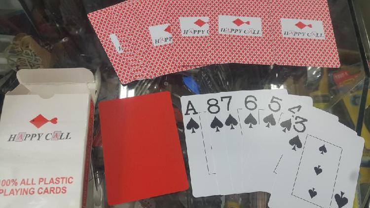 Cartas, casino, barajas, casino de plástico marca happy