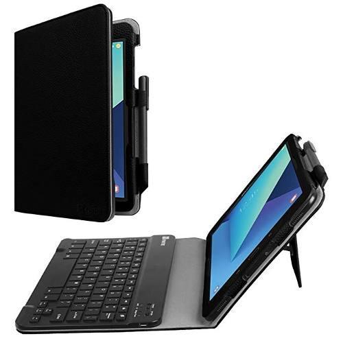 Fintie, funda con teclado para tablet s3 de 9,7, negro