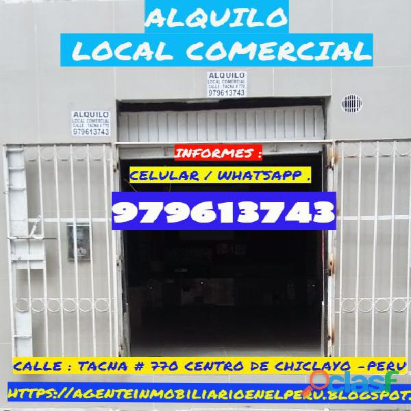 Alquilo local comercial centro de chiclayo peru