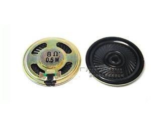 2pcs 8r 0.5w pequeña trompeta 50mm de diametro altavoz alta