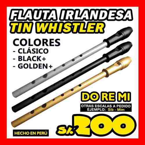 Tin whistler rosas flauta irlandesa profesional do re mi