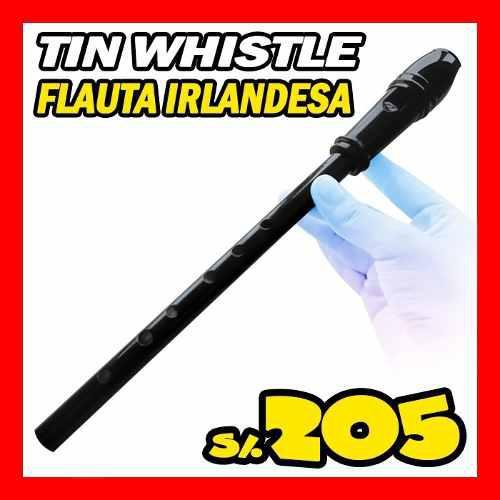 Tin whistler rosas flauta irlandesa profesional negro