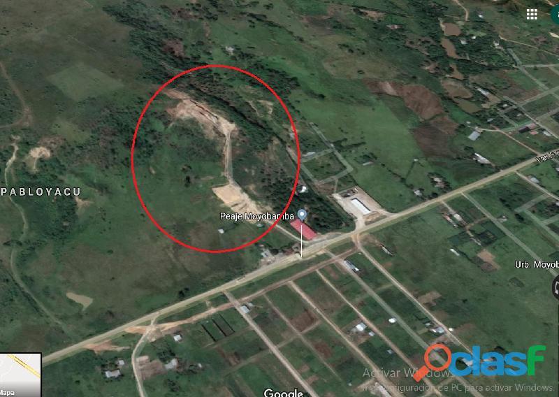 Venta de terreno de 9.5 hectáreas en moyobamba, san martin.