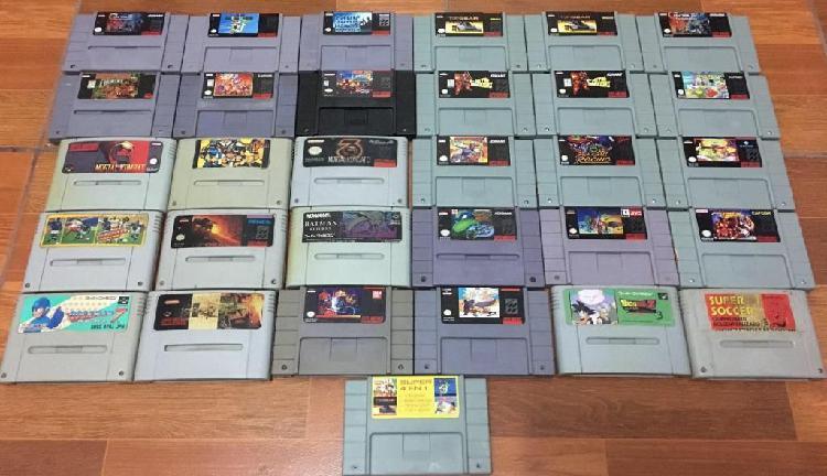 Lote colección super nintendo y nintendo 64 n64 snes