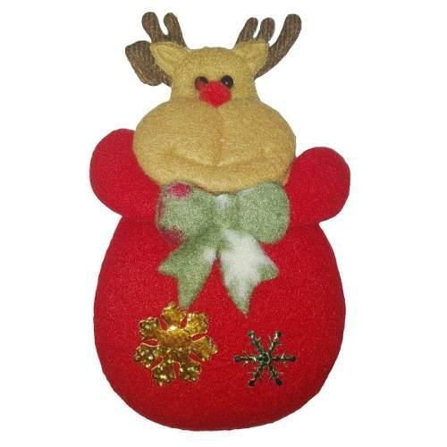 Adorno navideño reno 14cm arbol navidad amor decoracion