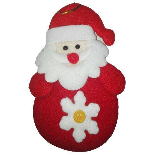 Adorno papanoel 14cm navidad regalo aplique muñeco