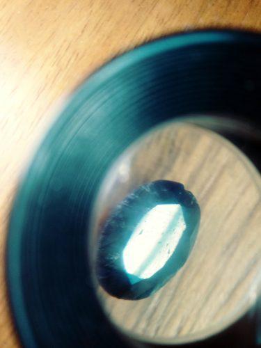 Piedra zafiro azul lechoso cabochon ct 11.00 n°007