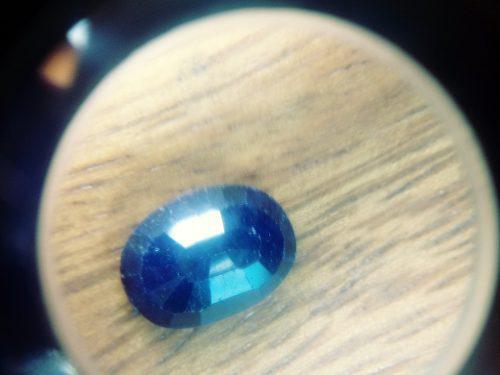 Piedra zafiro azul lechoso carbocho ct 8.00 n °12