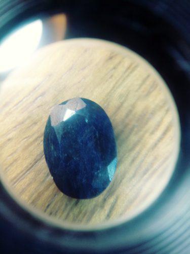 Piedra zafiro azul lechoso carbocho ct 9.00 n °14