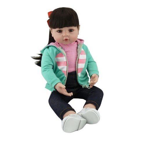 Bebe reborn muñeca real de vinilo siliconado