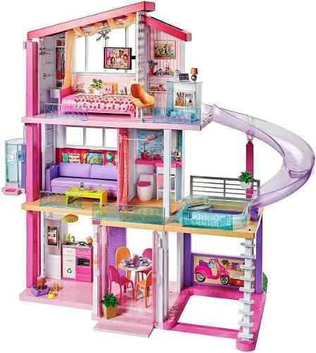 Casa barbie modelo 2019 original con tobogán 3 pisos nueva