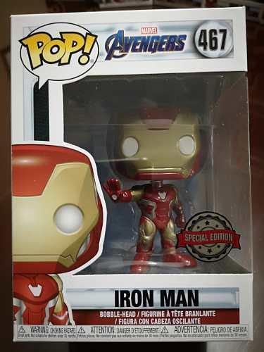 Funko pop! avengers end game - iron man nro 467 original