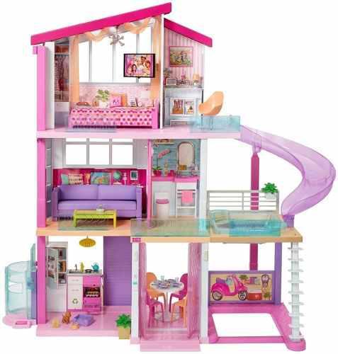 Nueva casa barbie modelo 2019 original con tobogán 3 pisos
