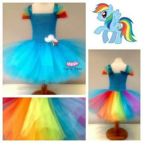 Preciosos vestidos my little pony. equestria personalizados