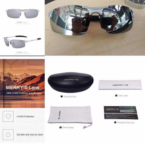5a3f2a7ba Lentes de sol polarizado uv400 merry's original gafas hombre