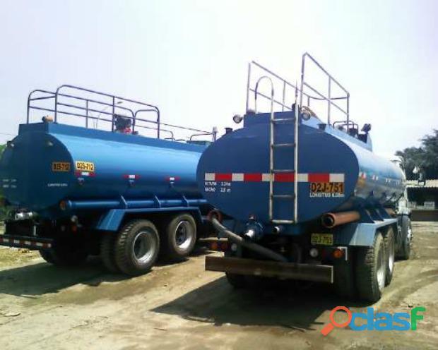 Servicios y alquiler de camiones cisterna de agua