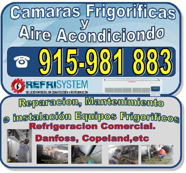 Técnico aire acondicionado, cámaras frigoríficas,