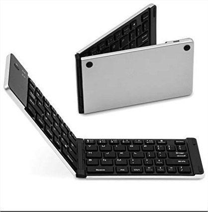 Teclado plegable portatil bluetooh con soporte table celular