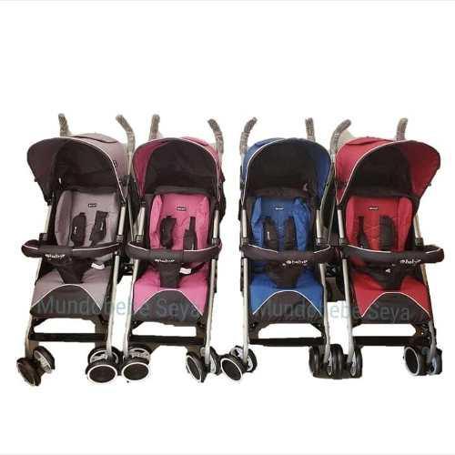9a86292d7 Coche bastón reclinable para bebe rosado (niña)